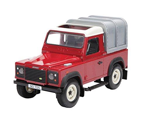 TOMY BIG FARM BRITAINS - Véhicule Land Rover Defender pour Enfants 42707, Jouet avec Effets Son et Lumière, Réplique Détaillée à l'Échelle 1:16, Convient aux Enfants de 3 ans+