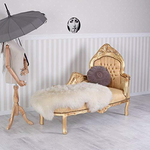 Chaiselongue Sofa Recamiere Barock Gold Prunk Rokoko Liege Palazzo Exklusiv cat590a06
