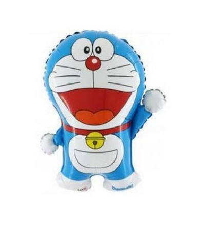 Grabo Globo Super Shape Mylar Doraemon, color azul y blanco, L165