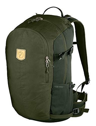 FJÄLLRÄVEN Keb Hike 30 Sac à Dos Mixte Adulte, Olive/Deep Forest, FR Unique (Taille Fabricant : OneSize)