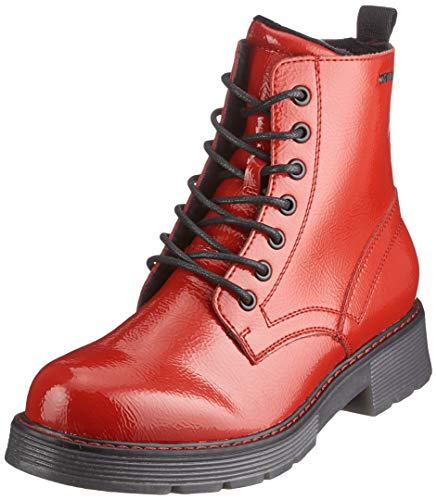 TOM TAILOR Damen 9093501 Halblange Stiefel, Rot (Fire), 40 EU