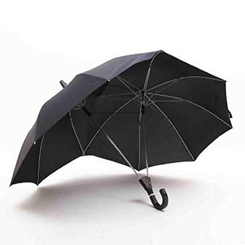 BJDKF Regenschirm Hohe Qualität Langer Griff Zweipolige Paar Regenschirm Männer Regen Frau Halbautomatische Werbegeschenk Regenschirm Winddicht Sonnenschirme