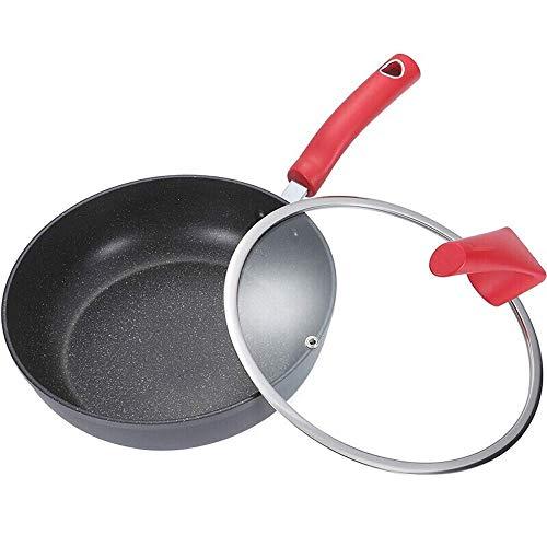 POÊLON Pan Wok Cuisinière anti-adhésive étoile Frying Pan Pan Steak Pierre santé Omelette gaz Poêle antiadhésive (Couleur: Rouge, Taille: 36x18x8cm) Baibao (Color : Red, Size : 36x18x8cm)