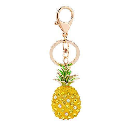 Schlüsselbund besonderen Tag Geschenk Mädchen Tasche hängen CreativeResin Ananas Form Schlüsselbund Auto anhänger kreative kleines Geschenk Tasche Dekor