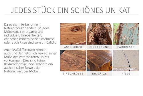 Invicta Interior Massive Truhe Factory LOFT 81cm Mangoholz grau mit Ziernieten Couchtisch Truhenbank Holztruhe mit Stauraum - 6