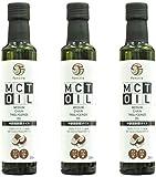 ファンクティア MCTオイル たっぷり250ml x お得に3本セット(原材料ココナッツ由来100%)functia MCT Oil 250ml x 3 pcs Medium Chain Triglyceride Oil (From Coconut 100%) チブギス CIVGIS