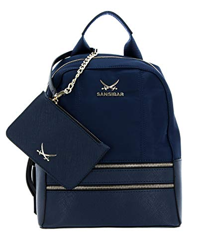 SANSIBAR-Damen Rucksack Backpack 24x29x13-011-ocean Blue