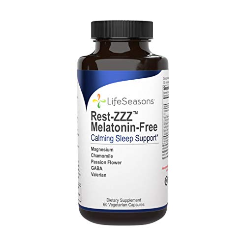 LifeSeasons - Rest-ZZZ Without Melatonin - Natural Sleep Supplement - Aids Restlessness - Maintain a Calm and Relaxed State Without Feeling Groggy in The Morning - 60 Capsules