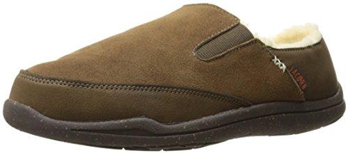 Acorn Crosslander Moc Slipper, Color: Chestnut, Size: 8 (AS1051CHNM8)
