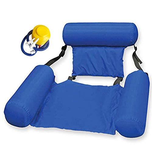 BTOSEP Water Hammock, Inflatable Floating Row Backrest Inflatable Floating Bed Durable Portable Water Recreation Lounge Chair,120 * 100cm,Floating Bed Lounge Chair Drifter Swimming Pool Beach Float