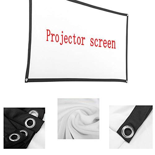 Acreny - Cortina de proyector plegable antiluz, pantalla de proyector 3D HD portátil