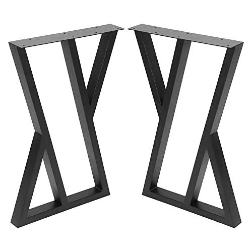 Hardware de mesa, patas de muebles de bricolaje accesorios de patas de mesa de comedor de hierro forjado industrial moderno negro