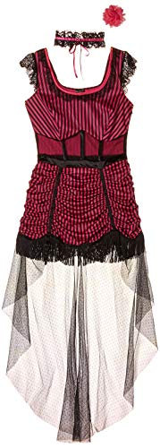 Leg Avenue Women's Saloon Girl Costume, Pink/Black, Small