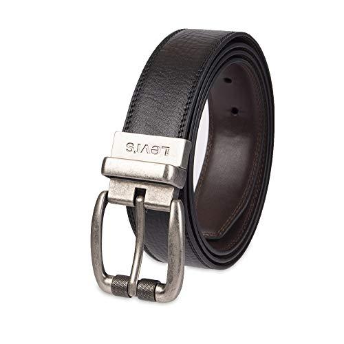 Levi's Men's Levis 38 Mm Extended Size Reversible Belt,Black/Brown,52