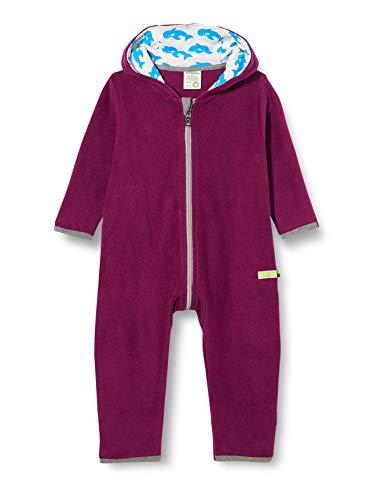 loud + proud Kinder-Unisex Fleece Overall, Plum, 74/80