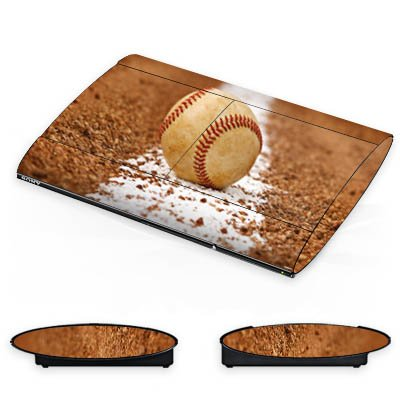 DeinDesign Skin kompatibel mit Sony Playstation 3 Superslim CECH-4000 Folie Sticker Ball Baseball Sport