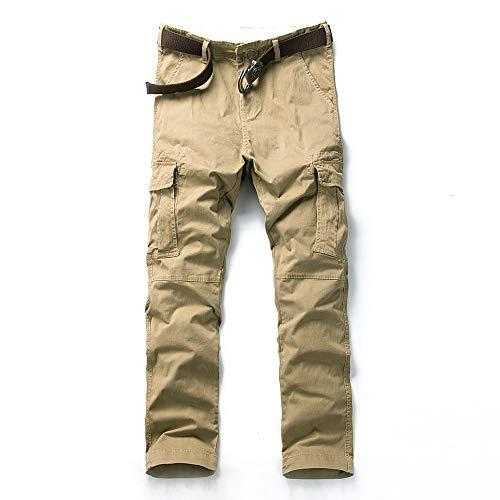 MOTOR CASUAL Pantalones de sarga clásicos de corte slim Pantalones de combate tácticos militares para hombres