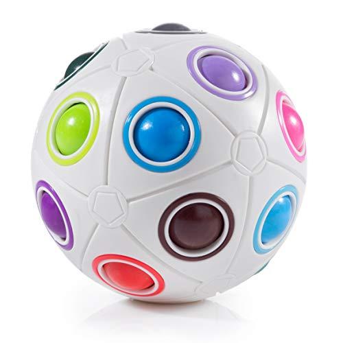digitCUBE Magic Ball XL Spielzeug - 3D Puzzle Regenbogenball Geschicklichkeitsspiel für Kinder - Mitgebsel für Jungen und Mädchen Weihnachten