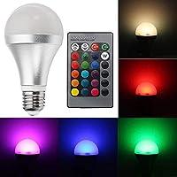 SUNTAOWAN LED電球AC85-265V E27 12W RGBW調光可能なスマートカラフルなグローブLED電球リモートコントロール