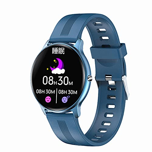 Reloj Inteligente Pantalla Táctil Completa Fitness Tracker Ritmo Cardíaco Presión Arterial Oxígeno Monitor Bluetooth Smartwatches para Android iOS-C