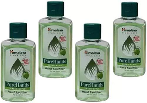 Himalaya Pure green apple fragrance set of 4 packs 100 ml each Total 400 ml Hand Sanitizer Bottle (4 x 100 ml)