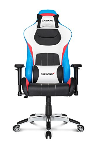 AKRacing Premium Series Luxury Gaming Chair with High Backrest, Recliner, Swivel, Tilt, Rocker and Seat Height Adjustment Mechanisms with 5/10 warranty (Tri Color)