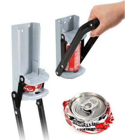 Metal Can Crusher 12oz/16oz Cans Smasher - Crushes Soda, Beer Cans and Plastic Water Bottles - Wall Mounted Soda, Beer, Cola Compress