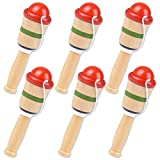ArtCreativity Mini Wooden Catch Ball Game, Set of 6, Vintage Catch Toys for Kids, Wood Design, Indoor and Outdoor Games for Backyard, Park, and Beach Fun, Best Gift Idea