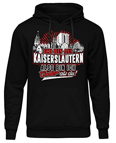 Cooler als du Kaiserslautern Männer Herren Kapuzenpullover | Fussball Skyline Trikot Sport Ultras Fun (M)