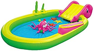 """Jilong Giant Inflatable Sea Animal Kiddie Play Pool - Inflatable Pool for Kids - Complete with Pool Accessories and Water Activities - 117"""" X 65"""" X 22"""""""