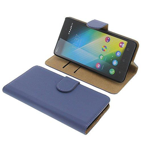Tasche für Wiko Lenny 2 (Nicht altes Lenny) Book Style blau Kreditkarte Schutz Hülle Buch