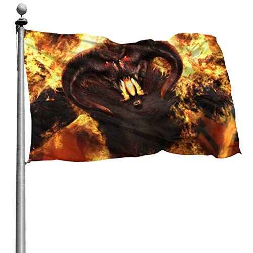 EWRVSXZ Señor Anillos Bandera 4 x 6 pies Durable al aire libre banderín anti UV Anti Descoloramiento banderas interiores colores brillantes banderas decorativas