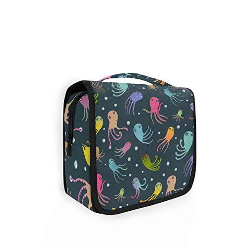 Rulyy Trousse de toilette à suspendre Motif pieuvre Multicolore