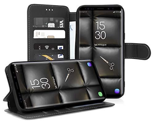 MyGadget Klapphülle für Samsung Galaxy Note 9 - Flip Hülle Magnetverschluss, Kartenfächer und Standfunktion Wallet - Kunstleder Hülle Schutzhülle in Schwarz