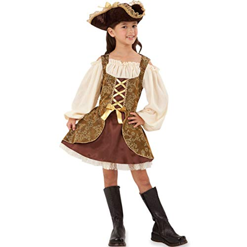 Bristol Novelty CC413 Goldenes Pirat Kleid, Bunt, L