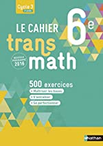 Le Cahier Transmath 6e de Joël Malaval