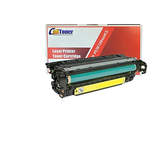 Calitoner Remanufactured Laser Toner Cartridge Replacement for HP CE252A -Yellow