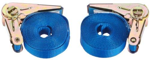 Braun 400-1-500/VE2 Spanngurt 800 daN, einteilig, Farbe blau, 5 m Länge, 25 mm Bandbreite, mit Ratsche (blau)