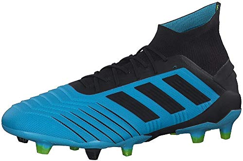 adidas Predator 19.1 Fg, Scarpe da Calcio Uomo, Blu (Bright Cyan/Core Black/Solar Yellow Bright Cyan/Core Black/Solar Yellow), 42 2/3 EU