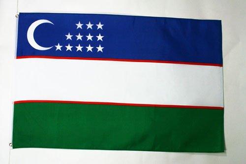 AZ FLAG Flagge USBEKISTAN 150x90cm - USBEKISCHE Fahne 90 x 150 cm - flaggen Top Qualität
