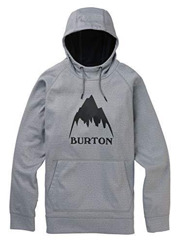 Burton Herren Fleecejacke Mown BNDD PO, Größe:XS, Farben:Gray Heather