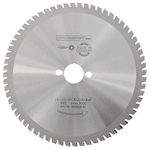 CrosSFER HM cirkelzaagblad 216 x 30 mm Z64 multifunctioneel zaagblad voor metaal kunststof spaanplaat laminaat hardmetaal uitgerust voor cirkelzagen