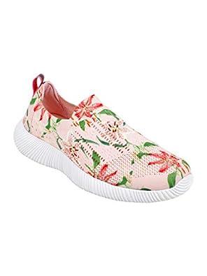 KazarMax Women Peach Printed Training Slip-On Shoes