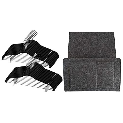 Cuasting 12 piezas de pantalones para adultos con bolsa de almacenamiento de fieltro para colgar mesita de noche