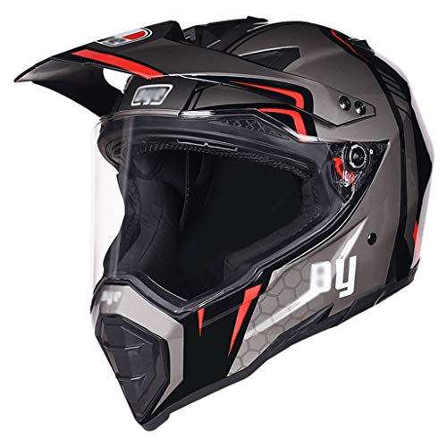 Helm LWAJ Motocross Four Seasons Integraalhelm voor mountainbike, racefiets, voor kinderen, met zonneklep voor dames en heren (54-62 cm)
