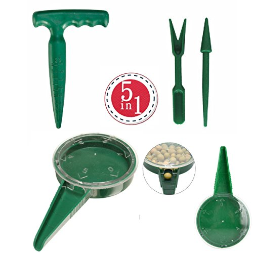 ZLY Adjustable Hand Held Garden Flower Plant Grass Seeds Planter Dial Sower Sowing Seeder Gardening Tool