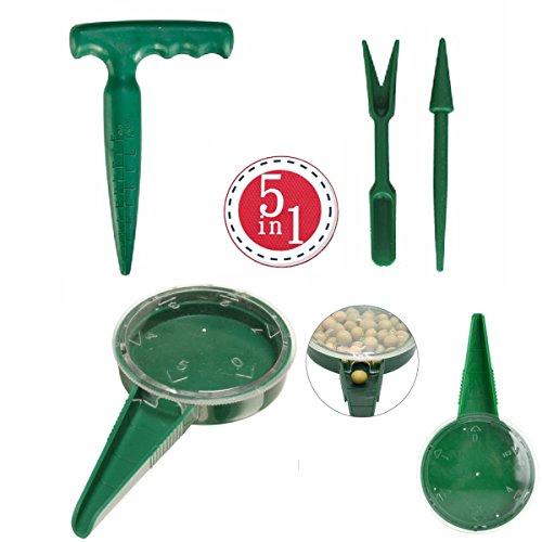 Buy ZLY Adjustable Hand Held Garden Flower Plant Grass Seeds Planter Dial Sower Sowing Seeder Garden...