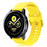 Onedream Cinturino Compatibile con Samsung Galaxy Watch Active/Active 2 44mm 40mm, Sportivo Silicone Bracciale Compatibile con Galaxy Watch 42mm/ Galaxy Watch 3 41mm Donna Uomo Giallo