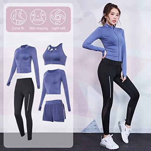 LY-Jeans Vêtements De Sport De Printemps Et D'Été Femme Vêtements De Yoga Débutants Professionnel Lâche Loisirs Fitness Vêtements De Course,XL