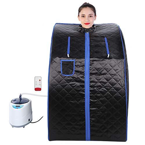 Spa portatile a infrarossi per la casa, tenda sauna leggera per dimagrire, dimagrimento del corpo, disintossicazione, relax a casa, tenda spa personale con vapore da 2 litri(EU)